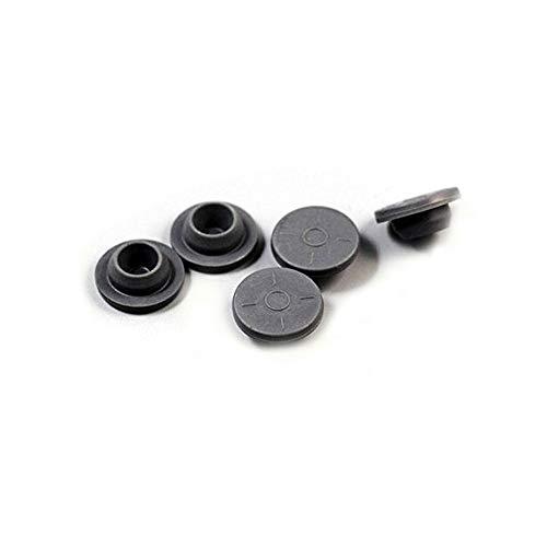 Yaphetss 20mm Gray Elastomer Rubber Stoppers Chlorobutyl Rubber Stoppers for Vials and Serum Bottles 100Pc