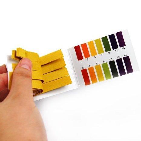 Litmus pH Test Strips Universal Application Full Ph 1-14 Test Indicator Litmus Paper Strips Tester for Saliva Urine Water Soil Testing 2 Packs of 80 Paper