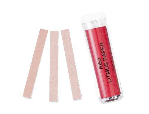 Red Litmus pH Test Paper Base Indicator 100 strips pH 68 - 81