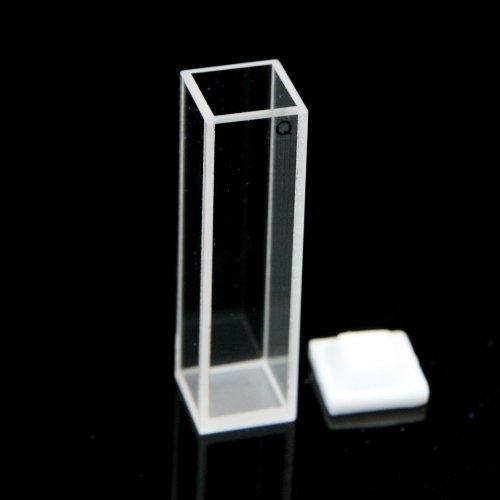 Fluorescence Quartz Cuvette Cells 10mm Teflon Lid for Fluorometer with DHL Intl Express