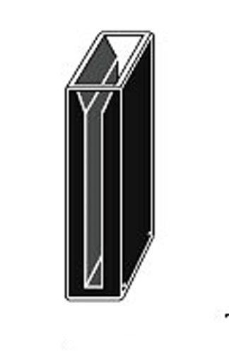Micro Quartz Cuvette Black Wall 20mm Lightpath 35ml 5mm Slit Cuvettescell