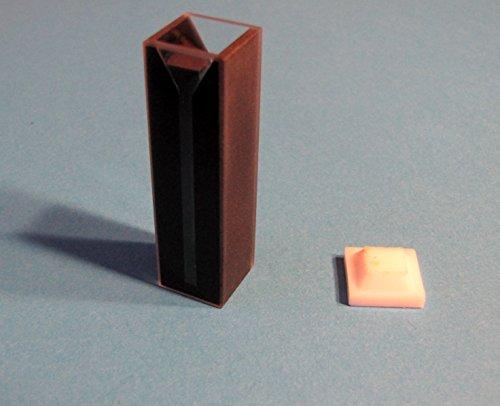 Standard Glass Visible Spectrometer Cuvette Cell Dark Wall Path Length 1cm 10mm Volume 15ml Pack of 2