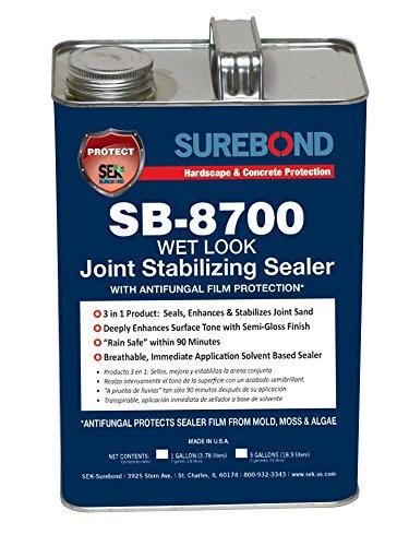 SEK Surebond SB-8700 G Wet Look JSS Antifungal Film Protection Solvent-Based Acrylic Co-Polymer Darkening