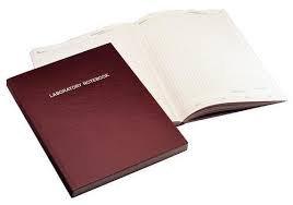 Nalgene 6501-1000 Lab Notebook 186 Paper Pages Gridded Burgundy 216 x 279cm case6