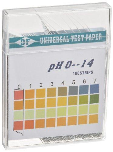 3B Scientific U29200 pH Indicator Papers 0-14 pH Range Pack of 100 strips