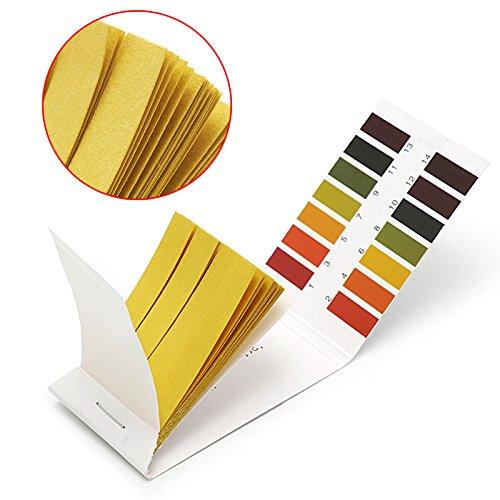 Techinal Universal pH Test Strips Full Range pH 1-14 Test Indicator Paper for Milk Tea lemon and ect 2Packs of 160 Strips