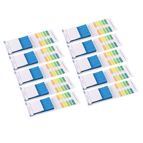 uxcell PH Test Strips 05-50 Indicator Paper Lab Litmus Tester 80in1 Kit for Water Food Pool Aquarium Testing Alkaline Acid 10pcs