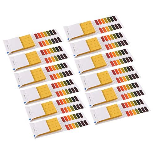 uxcell PH Test Strips 1-14 Indicator Paper Lab Litmus Tester 80in1 Kit for Water Food Pool Aquarium Testing Alkaline Acid 12pcs