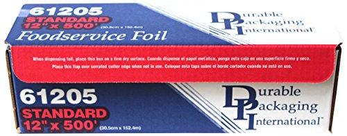 Durable Standard Aluminum Foil Roll 12 Width x 500 Length