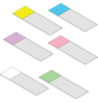 Charged with 90° Clipped Corner - SHURMARK PLUS Color-Frosted Microscope Slides Triangle Biomedical