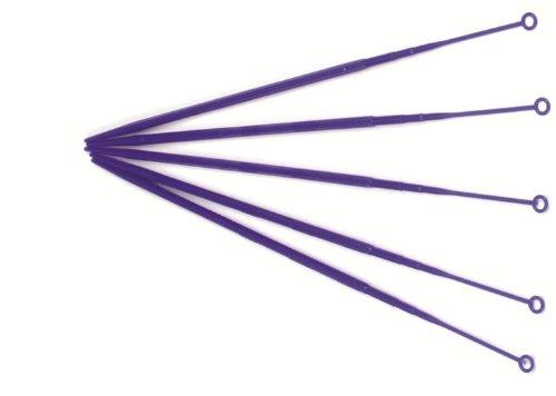 Heathrow Scientific HD81121A Polypropylene Flexible Disposable Inoculating 1 microliter Sterile Loop 4mm Diameter x 200mm Length Pack of 1000