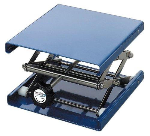 BrandTech B11016 Aluminum Anodized Laboratory Support Jack 10cm Length x 10cm Width Plate Size 12cm Maximum Height