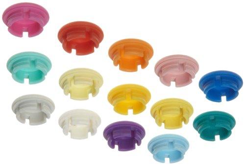 Wheaton Socorex W820014 Assorted Colors Smartie Caps Box of 14 Caps