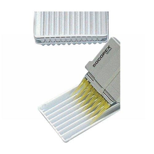 Wheaton Socorex W851239 8-Channel Reagent Reservoir 40mL Capacity Polystyrene Box of 10