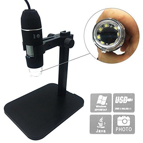 Digital Microscope KLAREN 1000X 8 LED 2MP USB Digital Microscope Endoscope Magnifier Camera Set