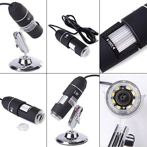1000x 8 LED USB Digital Microscope Endoscope Magnifier Camera  Adjustable Stand