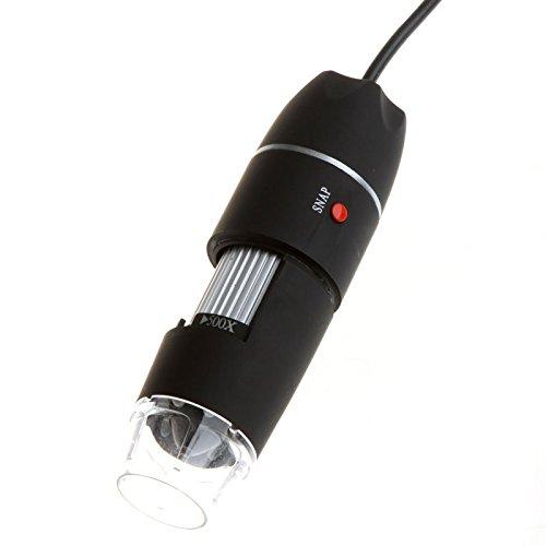500X 8LED USB Digital Microscope Endoscope Magnifier Camera Black