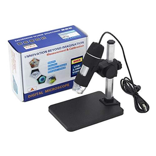 Pandamama Portable USB Digital Microscope 500X Digital Microscope Endoscope Magnifier CameraLift StandCalibration Ruler