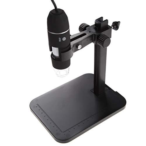 UKCOCO 2MP USB 1000X 8 LED Digital Microscope Endoscope Magnifier CameraLift Stand Hot Black