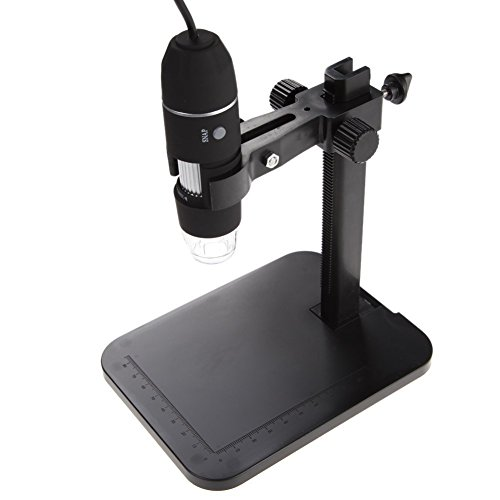 USB Microscope eBoTrade 2MP 800X 8 LED Portable Digital Microscope Endoscope Magnifier Camera with Lift Stand