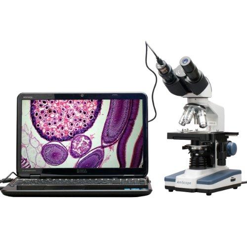 40X-2500X LED Digital Binocular Compound Microscope with 3D Stage  USB Camera