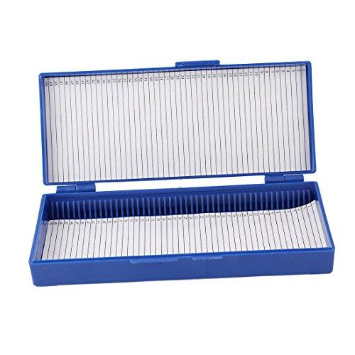 uxcell Royal Blue Plastic 50-Place Microslide Slide Microscope Box