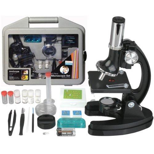 M30-ABS-KT51 51 pieza 300x-600x-1200x Marco Metal Kids Estudiante Principiante Kit Microscopio Compuesto