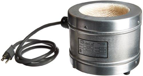 Glas-Col 100B TM106 Series TM Aluminum Housed Mantle for Spherical Flask 500ml Flask Capacity 115V
