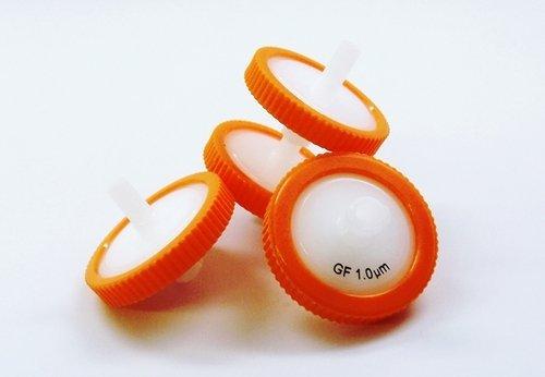 SEOH Syringe Filter Orange Glass Fiber Membrane 25mm Diameter 10 um Pore Size Pack of 100