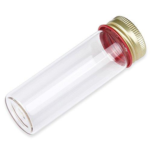 25ml Makarthy Tube with Aluminum Screw Cap Borosilicate Glass Flat Bottom 28x85mm Karter Scientific 234W5 - Pack of 10