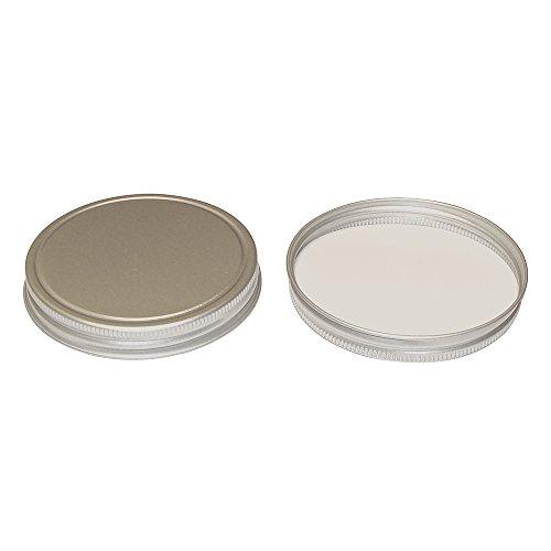 89400 Brushed Silver Aluminum Caps with Foam Liner 12 Caps