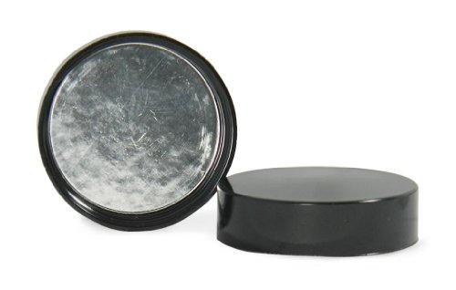 Qorpak CAP-00177 Black Phenolic Cap with PulpAluminum Foil Liner Smooth Style 24-400 Neck Finish Case of 576