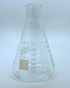 SEOH 5 Pack Erlenmeyer Flask Set 50mL 100mL 250mL 500mL 1000mL Borosilicate glass