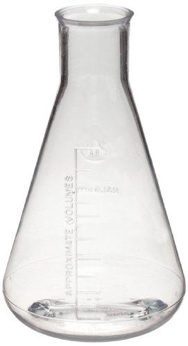 Nalgene 4103-0250 Polycarbonate 250mL Graduated Erlenmeyer Flask Pack of 6
