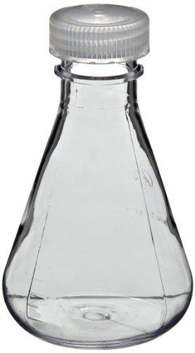 Nalgene 4108-0250 Polycarbonate 250mL Erlenmeyer Flask with Polypropylene Screw Closure Pack of 4