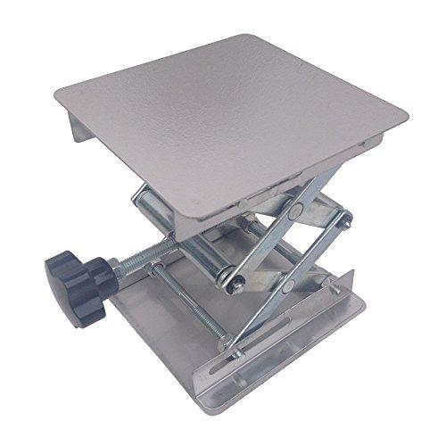 BIPEE 4x4 Lab Jack Lifting Scissor Stand Platform Stainless Steel