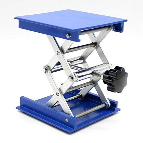 OESS Lift Table Aluminium Oxide Lab Stand Lifter Scientific Scissor Lifting Jack Platform 8X 8