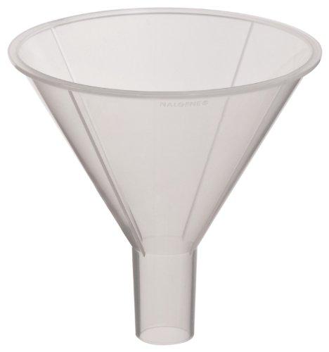 Nalgene 4252-0080 Polypropylene Round Powder Funnel 115mL Capacity 79mm Top ID Pack of 12