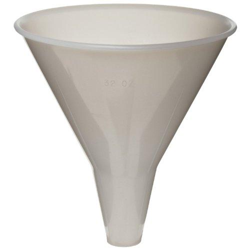 Nalgene 4256-0234 Polypropylene Round Utility Funnel 62mL Capacity 65mm Top ID Pack of 12
