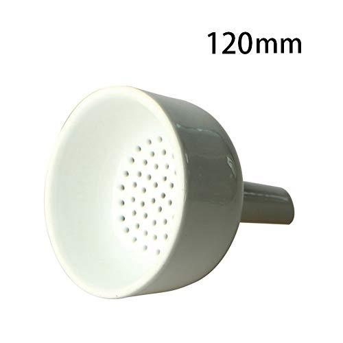 JIANFEI LIANG 3pcs- 120mm Buchner Funnel Porcelain ID 115mm OD 126mm Porcelain Buchner Filter Funnel for Laboratory Chemistry Equipment Color  Buchner Funnels120mm