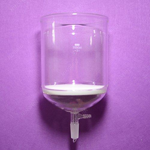 NANSHIN Glassware 3000ML244 0Buchner FunnelFilter Funnels10 MM Vacuum hose connection