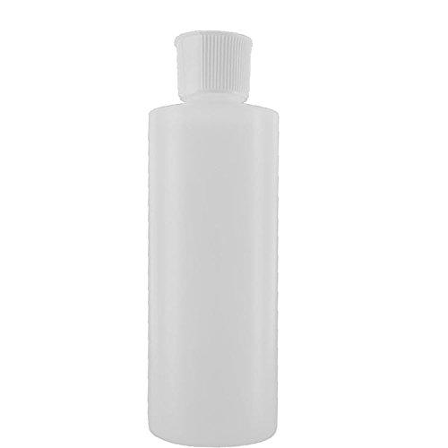 4 Oz Plastic Cylinder Bottles with Flip Top Pour Spout Pack of 12