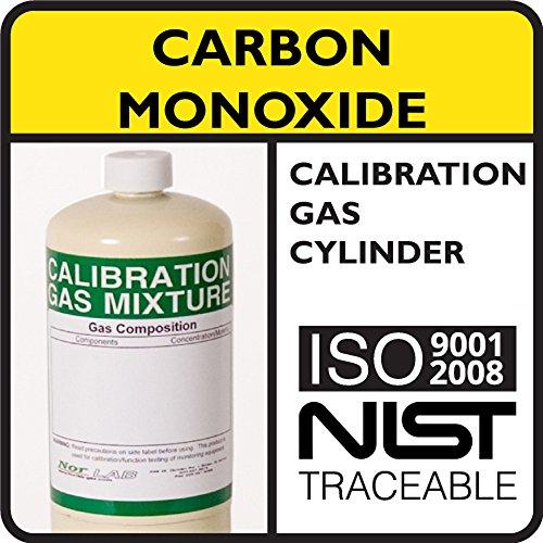 50 PPM Carbon Monoxide Calibration Gas Balance Nitrogen 17 Liter Steel Cylinder