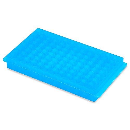 05ml 15ml Micro-Centrifuge Tube Rack 96 count PP Material Non-sterile Autoclavable Color Blue Karter Scientific 235I2 - Single