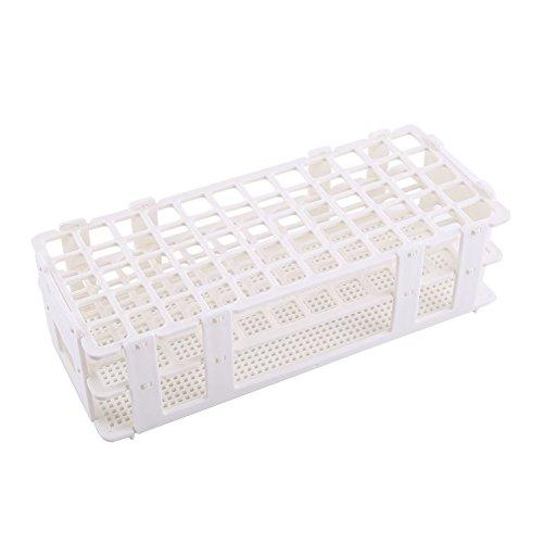 1pc Plastic Test Tube Holder Rack 16mm x60 Holes Detachable Test Tube Stand White 3 Layers