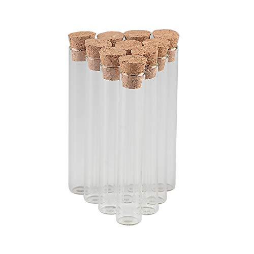 5ml Transparent Test Tube Bottle with Cork Suitable for IndustryDecorationStorage-Size 12x75mm100pcs