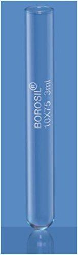 Borosil 9820U08 Culture Test Tube without Rim 55 ml