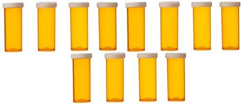 Plastic Prescription Vials with Snap Caps 6 Dram - 12 Per Bag