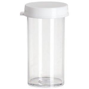 Plastic Snap Cap Vials 50 Drams 1 78 x 4 14 Pack of 100