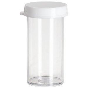 Polystyrene Plastic Snap Cap Vials 12 Drams 1 18 x 2 58 Pack of 25